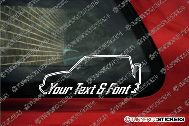 2x Suzuki Sidekick / Vitara 2-Door Hardtop (1989-1998) CUSTOM TEXT stickers
